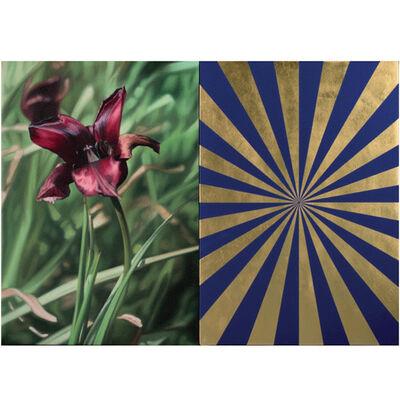 Mustafa Hulusi, 'Cyprus Black Tulip 4 Blue Gold Expander', 2017