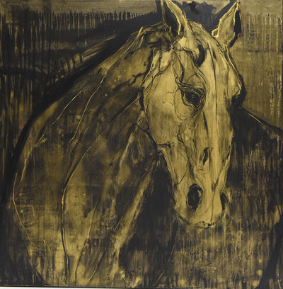 Kandis Cook, 'Gold horse VI', ca. 2018