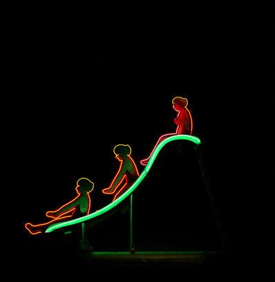 Jeff Brouws, 'Neon Swimmer at Night, Las Vegas, NV', 1995