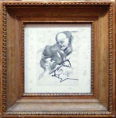 Mino Maccari, 'Sketch of Benito Mussolini', 1920s