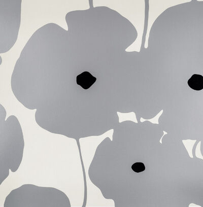 Donald Sultan, 'Silver Poppies, 2018', 2018