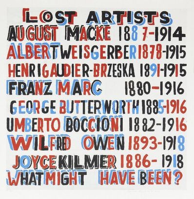Bob and Roberta Smith, 'Lost Artists', 2014