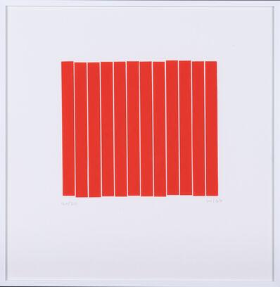 Vera Molnar, 'Carré rouge en 12 morceaux', 1988