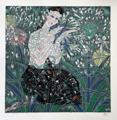 Jiang Tiefeng, 'Morning Flowers', 1989