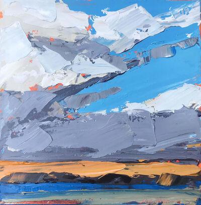 """Paul Norwood, '""""Orange Horizon"""" Impasto Oil Painting of a Martha's Vineyard Sunset', 2018"""