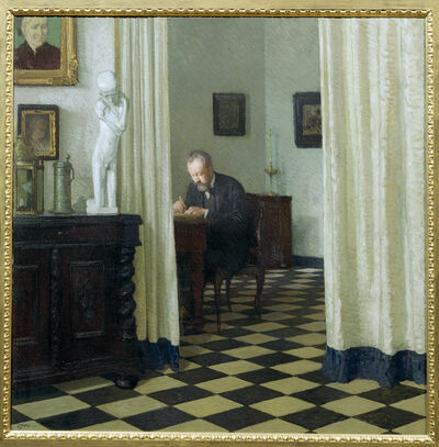 Carl Moll, 'Self Portrait in his Study', 1906