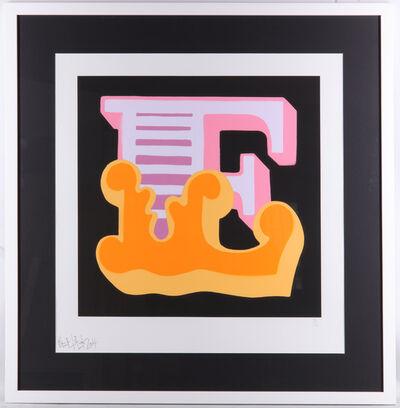 Ben Eine, 'E (Orange)', 2014