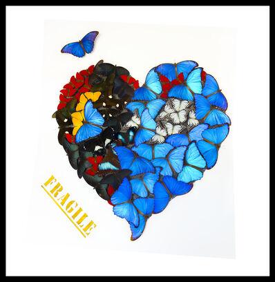 SN, 'Butterfly Fragile Heart White', 2019