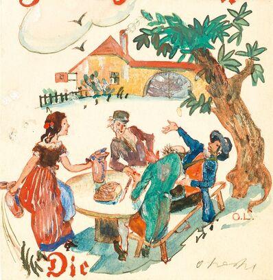 Oskar Laske, 'At a Wine Tavern in Grinzing', ca. 1925