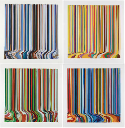 Ian Davenport, 'Seasons: Autumn, Spring, Summer, Winter', 2019