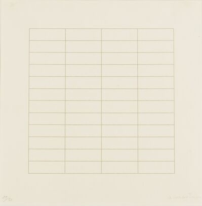 Agnes Martin, 'Untitled', 1973