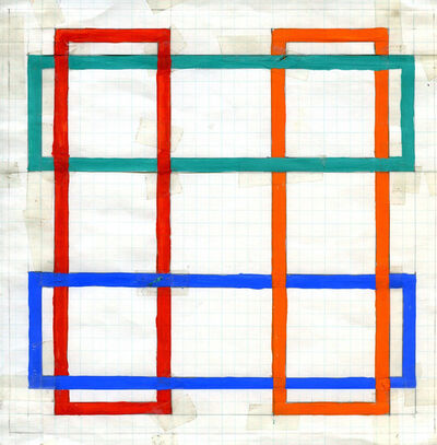 Richard Anuszkiewicz, 'Translumina – Study for Transparent Square', 1987