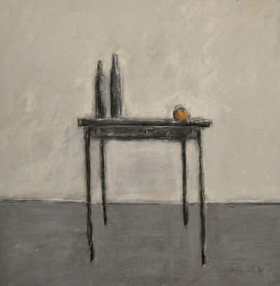Thomas McAnulty, 'Two Bottles and Peach on a Table'