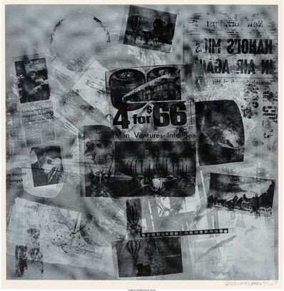 Robert Rauschenberg, 'Surface Series from Currents #40', 1970