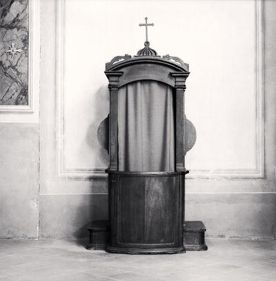Michael Kenna, ' Confessional, Study 52, Chiesa Di Santa Maria Assunta, Minozzo, Reggio Emilia, Italy', 2015