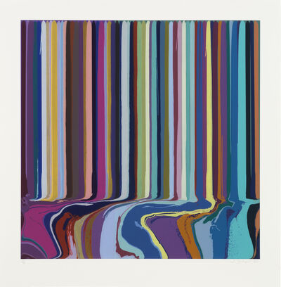 Ian Davenport, 'Duplex Etching Purple, Green', 2014