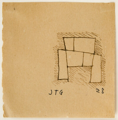 Joaquín Torres-García, 'Drawing for a monument', 1928