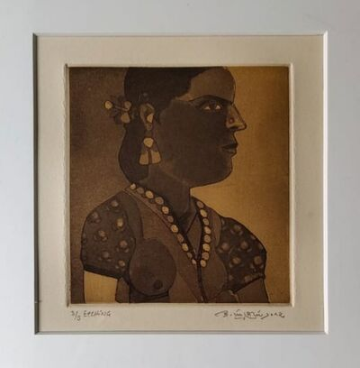 "Laxma Goud, 'Untitled, Etching on Paper, Modern Indian Artist ""In Stock""', 2017"