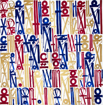 RETNA, 'A Destination To The Legacy of Great Achievements. Who Lives Above The Clouds Aligning The Wings Of Man's Imagination', 2013