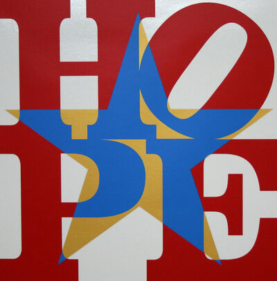 Robert Indiana, 'Star of Hope (Red/Blue/White/Gold)', 2013