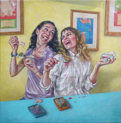Roxana Halls, 'Laughing While Eating Yogurt', 2015