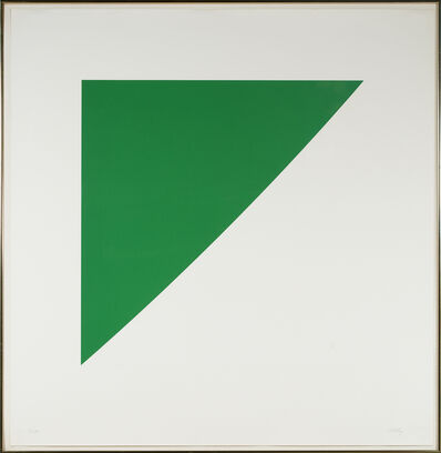 Ellsworth Kelly, 'Green Curve with Radius of 20 from For Meyer Schapiro', 1974