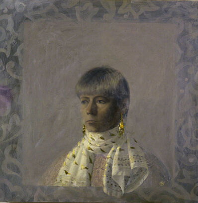 Olga Antonova, 'Self Portrait with Scarf', 1989