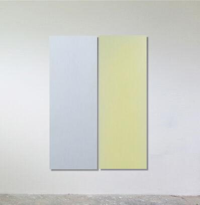 Sonia Costantini, 'Dittico. Celeste madre perla / giallo vetro', 2016