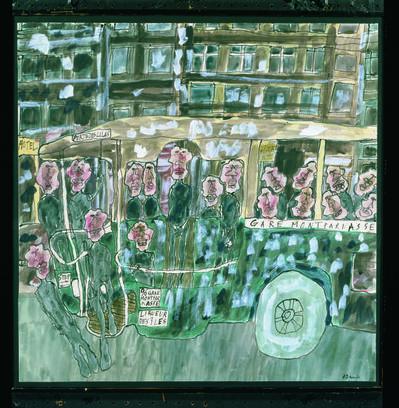 Jean Dubuffet, 'Autobus Gare Montparnasse', 1961