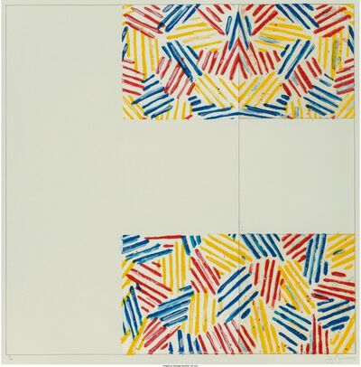 Jasper Johns, '#1-6 (after 'Untitled 1975')', 1976
