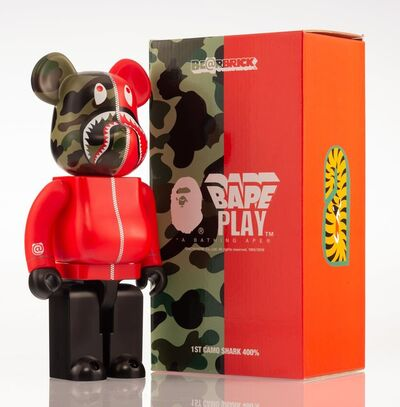 BE@RBRICK X BAPE, '1st Camo Shark 400% (Red)', 2016