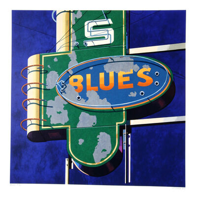 Robert Cottingham, 'American Signs Portfolio (Blues)', 2009