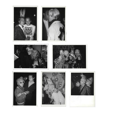 Andy Warhol, 'UNIQUE Set of Seven Patrick McMullan photographs, 1980's, Featuring Keith HARING / Andy WARHOL / Benjamin LIU / John SEX at the Palladium & Tunnel Night Clubs NYC.', 1980's
