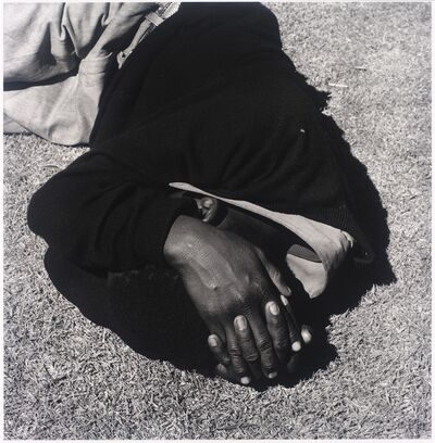 David Goldblatt, 'Man sleeping, Joubert Park, Johannesburg. 1975, from the series Particulars', 1975; printed 2010