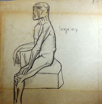 Francis Newton Souza, 'Untitled (Seated Nude)', 1954