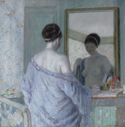 Frederick Carl Frieseke, 'Lady at the Mirror', ca. 1922
