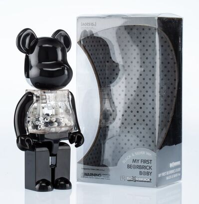 BE@RBRICK X Project 1/6, 'My First Be@rbrick B@by (Black and Silver)', 2009