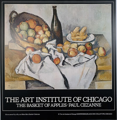 Paul Cézanne, 'The Art Institute of Chicago, The Basket of Apples, Paul Cezanne, Continuous Tone (No Dots) Lithographic Poster, HOLIDAY SALE $50 OFF THRU MAKE OFFER', 1980