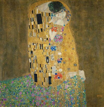 Gustav Klimt, 'Der Kuss (The Kiss)', 1907-1908