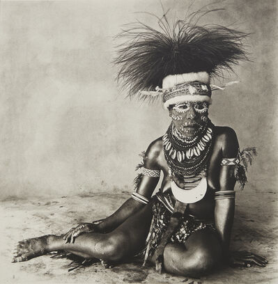 Irving Penn, 'Sitting Enga New Guinea Woman', 1970