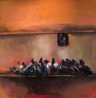 Jamal Ahmed, 'Pigeons - II', 2019