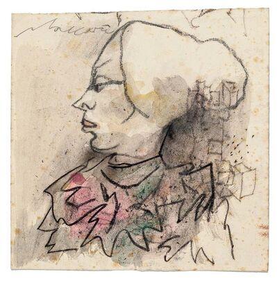 Mino Maccari, 'Portrait ', 1985