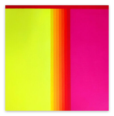 Cristina Ghetti, 'Red gradient (Abstract painting)', 2020
