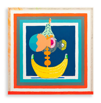 Mike Perry, 'Candle with Banana', 2016