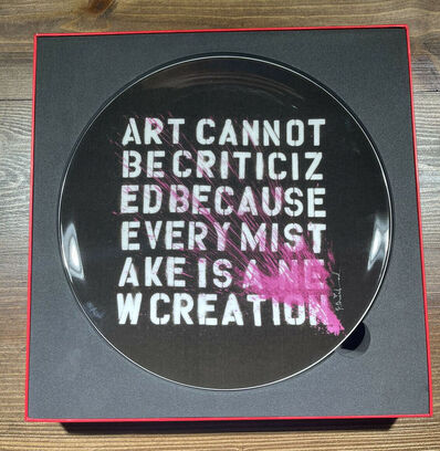 "Mr. Brainwash, '""Art Cannot Be Criticized"" Artist Plate by Mr. Brainwash Limited Edition Of 175 ', 2011"