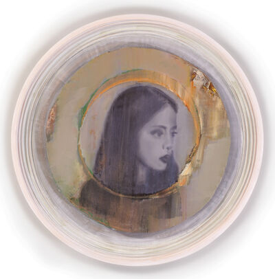 Attila Szűcs, 'Girl with Auratic Circle', 2015