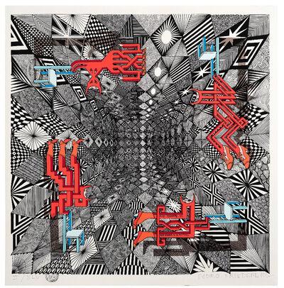 Pedro Friedeberg, 'Cuatro acróbatas en seis posiciones II', 2018