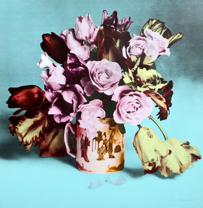 Francesco Scavullo, 'Roses and Tulips in Chinese Mug (Turquoise)', 1987