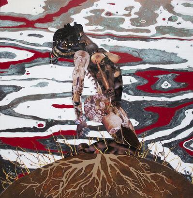 Penda Diakité, 'Red, Black and Blue', 2019
