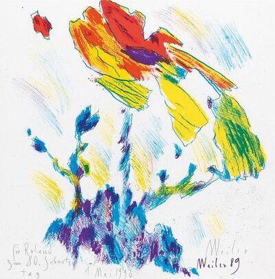 Max Weiler, 'Blume', 1989